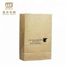 embalagem de alimentos saco de papel kraft com forro de pe