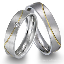 New Titanium Steel Promise Ring Couple Wedding Engagement Ring