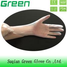 Прозрачные синие черные зеленые белые одноразовые перчатки из винила