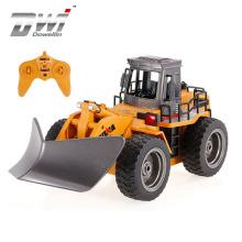 DWI Dowellin 2.4G Huina Remote Control Bulldozer Truck Construction Vehicle 1/18 Engineering Truck RC Car