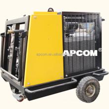 APCOM 40 CFM 18hp 13bar 35cfm 1m3/min petrol portable screw gasoline air compressor air compressor for prospecting