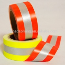 EN469 high visibility silver yellow fire resistance flame retardant warning reflective fabric tape with aramid backing