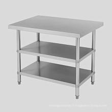 Ss304 316 Table d'opération Acier inoxydable Trois couches Deux couches Structure Table de tri