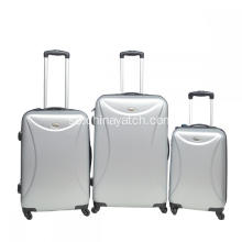 Sliver ABS Spinner Trolley Bagage Set