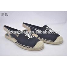Chaussures plates Chaussures de chanvre Chaussures en tissu Chaussures de chaussures simples et confortables pour l'environnement Chaussures de chaussures simples Chaussures de toile