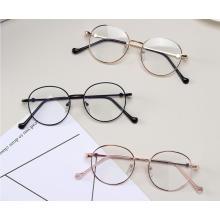 Gafas de juego de marco óptico de metal de diseñador Luz azul anti