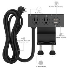 Clamp Mount Power Outlet Strip B