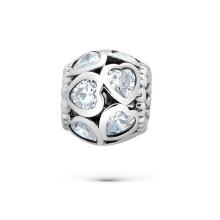 Corazón CZ 925 pulseras de plata de plata pulsera