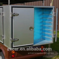 2 seaters 48V electric golf cart with food cart sevice cargo box