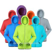 Chaqueta de las mujeres de los hombres al aire libre de secado rápido anti-UV impermeable chaqueta de piel transpirable