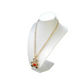 White Leatherette PU MDF Necklace Stand Wholesale (NS-WLS-1)