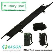 Camilla plegable militar de aluminio portátil del uso médico cuatro para la venta