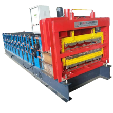 Three layers profile tile roll forming machine