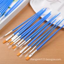 Oil painting brush number draw flat pen nylon