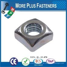 Made in Taiwan DIN 557 Vierkantmutter und andere Vierkantmuttern Carbon Steel Black Oxide verzinkt Hot Dip Galvanisiert