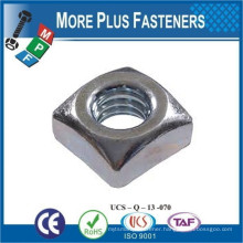 Made in Taiwan DIN 557 Square Nut and other Square Nuts Carbon Steel Black Oxide Zinc Plated Hot Dip Galvanized