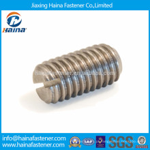 DIN438 Parafuso de ajuste ranhurado de aço inoxidável com ponto de tampa