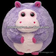 Juguetes de pelota encantadora juguetes de peluche de peluche con forma de hipopótamo
