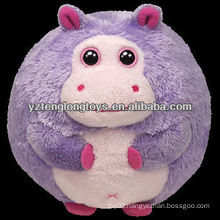 lovely ball toys hippo shaped stuffed pets plush toys
