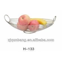 Bandeja de frutas ovais de aço inoxidável