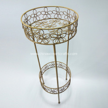 2-tier Metal flower stand for garden decoration