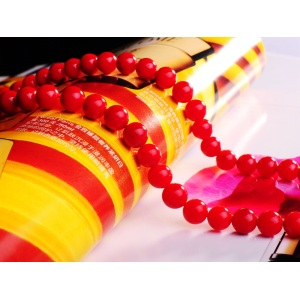 4MM Round Red Coral Gemstone Beads for DIY Jewelry
