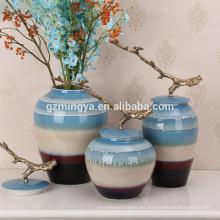 Jarrones de cristal decorativos caseros multifuncionales para la decoración casera para las ventas al por mayor