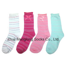 Excellent Quality Girl Cotton Socks with Bow