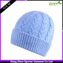 16FZBE01 hiver câble tricoté cachemire beanie femmes