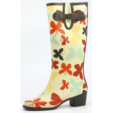 Women Colored Butterfly Printing Rubber Boots