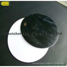 Creative Round Black Cake Boards, Single Wrapped with White Backboard Cake Boards (B&C-K049)