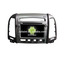Quad core! Dvd do carro com link espelho / DVR / TPMS / OBD2 para 7 polegadas tela sensível ao toque quad core 4.4 sistema Android Hyundai Santa Fe (baixo equipar)