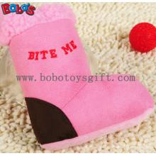 Rosa Plüsch Stiefel Haustier Hund Spielzeug mit Squeaker BOSW1080 / 15CM