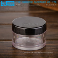 KJ-A Series 5-100g PETG material thick wall round clear plastic jar with lids