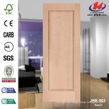 (JHK-001) Fabricación natural del panel de la puerta de la haya moldeada natural de HDF