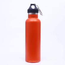 Garrafa de água de aço inoxidável dos esportes da garrafa térmica do vácuo da parede dobro portátil