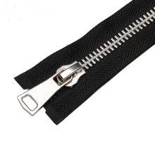 No.8 Open End Stainless Steel Metal Leather zipper