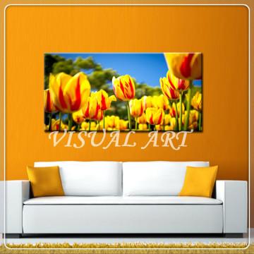 Холст картины цветка тюльпана для сбывания