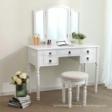 Bedroom Plywood vanity dressing table with mirror