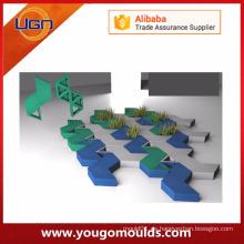 Hermosos patrones de prototipado rápido de piedra de pavimentación de molde de plástico