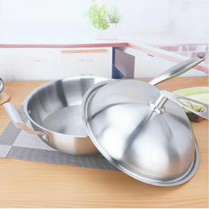 Multipurpose Use Stainless Steel Pan with Lid