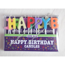 Customized Logo Assorted Letter Happy Birthday Candle With High Quality Certificates
