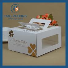 Глянцевое ламинирование Золото Горячее тиснение Элегантная коробка для торта (CMG-box-028)