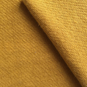 Cotton linen knitted terry hoodie fabric
