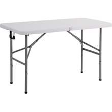 Tabla plegable del rectángulo plástico 4FT, tabla de cena, tabla que acampa