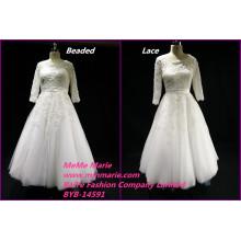 2017 Королевские свадебные платья сердце кружева и бисером свадебные платья scoop БЫБ-14591