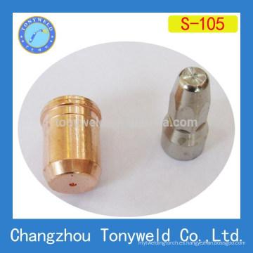 Trafimet S105 inyector de plasma de plasma y electrodo
