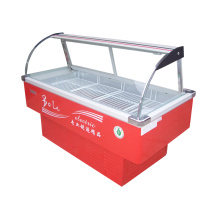 Refrigerated and Frozen Meat Display Freezer for Supermarket
