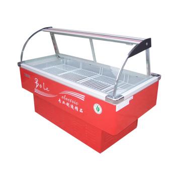 Refrigerado e Congelado Carne Display Freezer para Supermercado