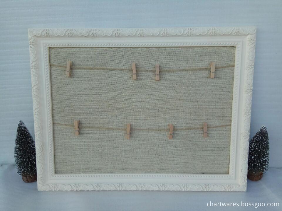 linen wooden frame